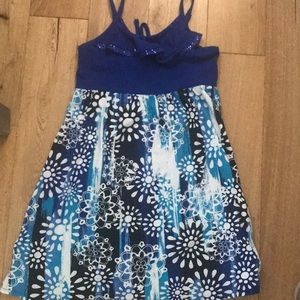 Justice blue and white girls dress